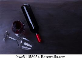 b14bd902a Corcs Art Print Poster - Glass Of Red Wine