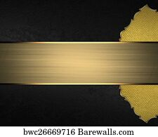 art print of gold element for design template for design black