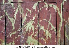 210 Red Rustic Weathered Barn Wood Board Background Posters And Art