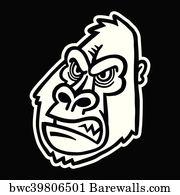 Gorilla Crossfit Art Print Poster