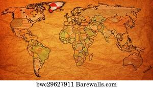 1 718 Greenland Map Posters And Art Prints Barewalls