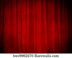 The Traditional Red Theatre Curtain Art Print Barewalls Posters Prints Bwc4012369