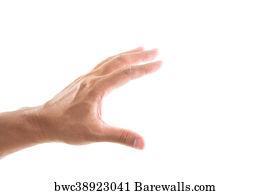 art print of hand grabbing on white background barewalls posters