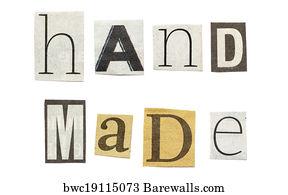 Art print of handmade cutout newspaper letters barewalls posters handmade cutout newspaper letters spiritdancerdesigns Gallery