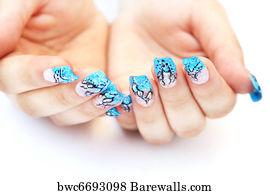 18109 nail art posters and art prints barewalls nail art art print poster hands with nail art prinsesfo Image collections