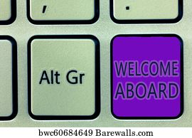 484 welcome aboard posters and art prints barewalls welcome aboard art print poster handwriting text writing welcome aboard concept meaning expression of m4hsunfo