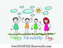 Friendship Day Art Print Poster