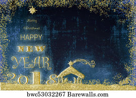 religious border art print poster happy new year 2018 christmas card