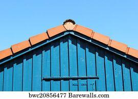 Dach Art Print Poster   Haus, Giebel, Himmel, Holz, Dach