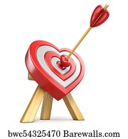 715 heart shaped target posters and art prints barewalls heart shaped target art print poster heart shaped target with the arrow in the center thecheapjerseys Images