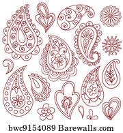 37 735 Henna Vector Posters And Art Prints Barewalls