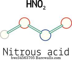 art print of hno2 nitrous acid molecule barewalls posters prints