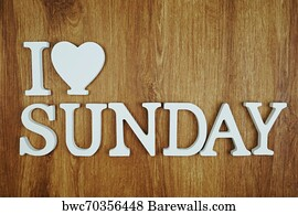 131 I love sunday Posters and Art Prints | Barewalls