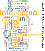 art print of intellectual disability id background concept