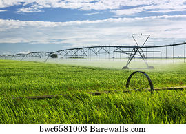 Modern Farm Technology Art Print Poster