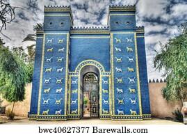 art print of ishtar gates in babylon barewalls posters prints