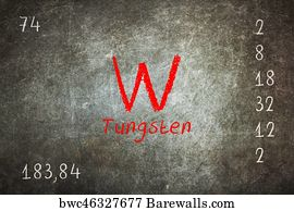 72 tungsten element periodic table posters and art prints barewalls tungsten element periodic table art print poster isolated blackboard with periodic table tungsten urtaz Image collections