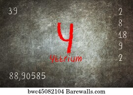 68 yttrium posters and art prints barewalls yttrium art print poster isolated blackboard with periodic table yttrium urtaz Images