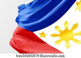 Philippine Flag Art Print Poster