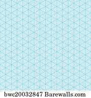 Isometric Graph Paper Art Print Poster   Isometric Graph Paper