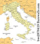 1 099 Croatia Vector Map Posters And Art Prints Barewalls