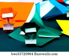 Japanese Origami Art Print Poster