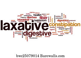Exigency Art Print Poster   Laxative Word Cloud