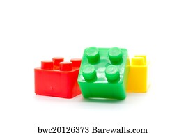 1,253 Lego plastic building blocks on white background Posters and