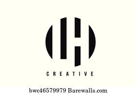 Lv L V White Letter Logo Design With Circle Background Art