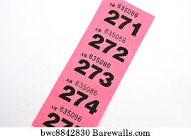 tombola art print poster line of raffle tickets