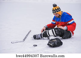 Ice Hockey Loser Art Print Poster