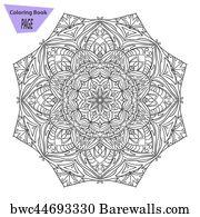 Mandala Coloring Page Vintage Decorative Elements Oriental Pattern Vector Illustration Islam Arabic Indian Turkish Pakistan Chinese Ottoman Motifs Y Acrylic Print Barewalls Posters Prints Bwc44646712