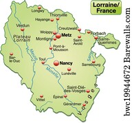 127 Lorraine Map Posters And Art Prints Barewalls