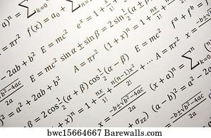 Math Background Art Print Poster