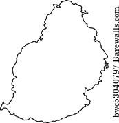 219 Mauritius vector map Posters and Art Prints | Barewalls