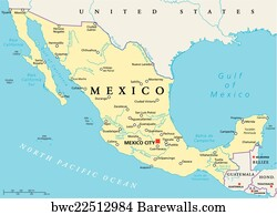 Rio Bravo Mexico Map.2 Rio Bravo Posters And Art Prints Barewalls