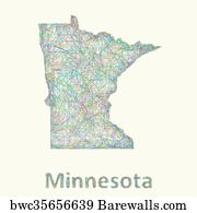 picture about Printable Map of Minnesota called 1,091 Minnesota region map Posters and Artwork Prints Barewalls