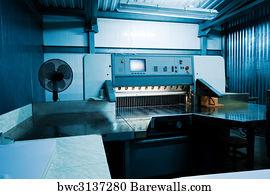 Printing Press Machine Art Print Poster
