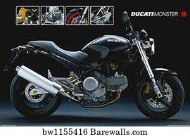 Motorcycle Art Print Poster Ducati Monster