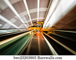 Moving Stairs Art Print Poster   Moving Stairs In An Airport