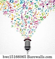 Music Note Art Print Poster