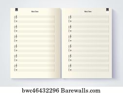 blank staff notation art print poster music stave template blank stave note paper