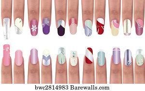 12781 Nail Art Design Posters And Art Prints Barewalls