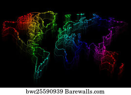 895 outline map of africa continent in black posters and art prints outline map of africa continent in black art print poster neon outline map of the gumiabroncs Image collections