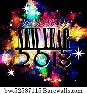 religious flyer art print poster new year 2018 template bright festive card