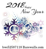 religious flyer art print poster new year 2018 template festive card illustration