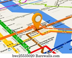 New York City Navigating Subway Map.15 New York City Subway Map Posters And Art Prints Barewalls