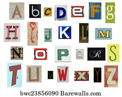 177 handmade cutout newspaper letters posters and art prints barewalls handmade cutout newspaper letters art print poster newspaper alphabet spiritdancerdesigns Choice Image