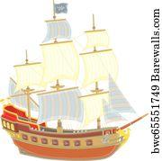 48 Three masted schooner Posters and Art Prints | Barewalls