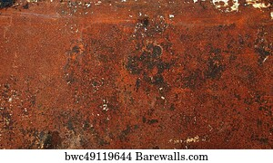 Seamless Metal Background Texture Old Rusty Grunge Iron Rust Brown Dirty Steel Metallic Material Art Print Rustic